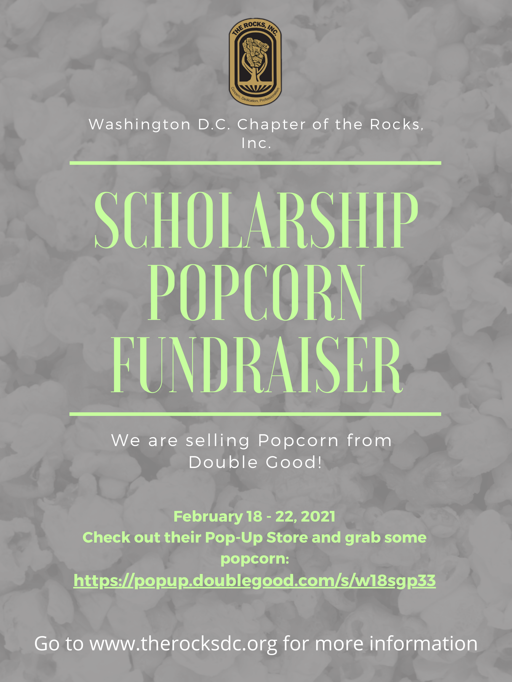 Scholarship Popcorn Fundraiser with Double Good!