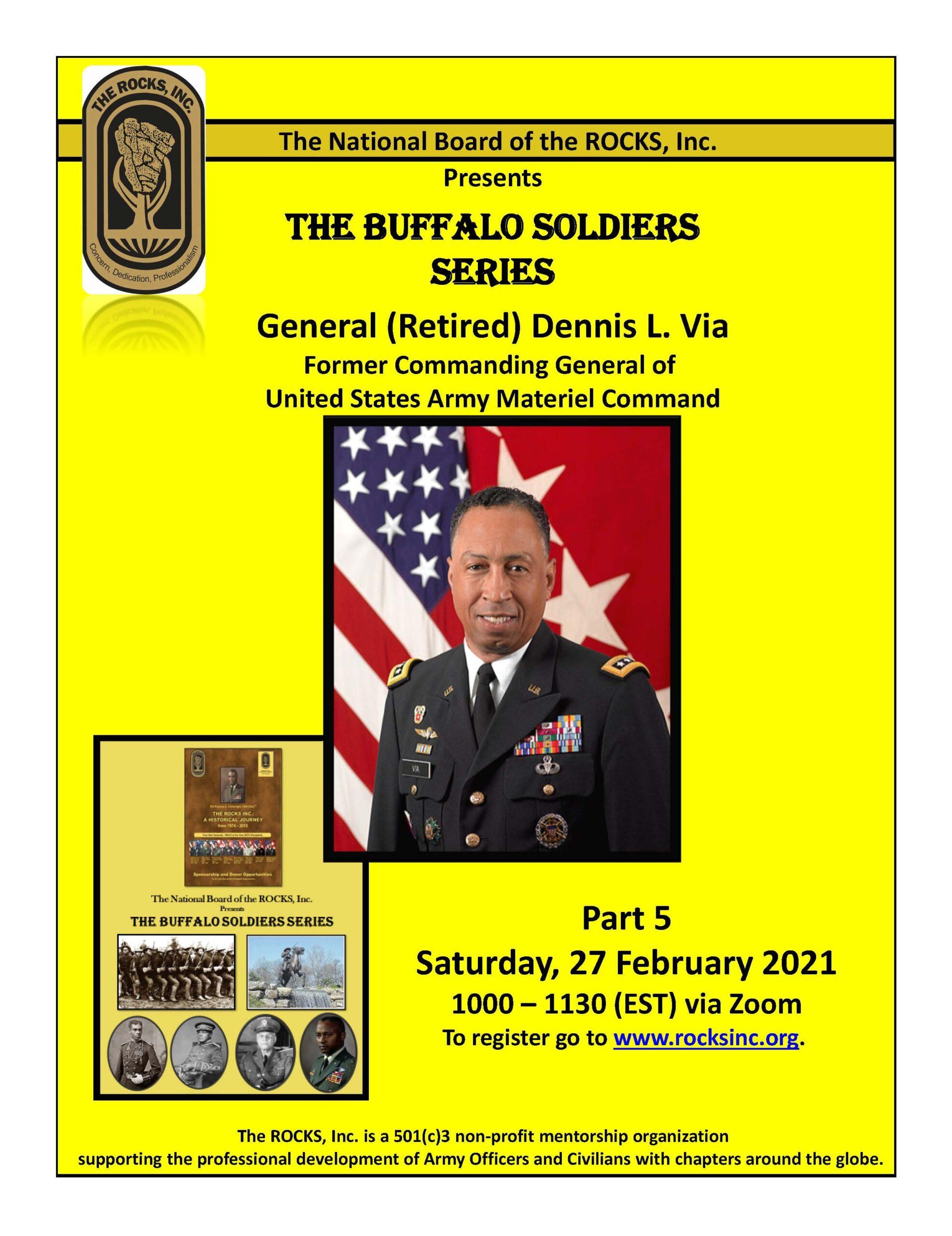 Buffalo Soldier Series: General (Retired) Dennis L. Via