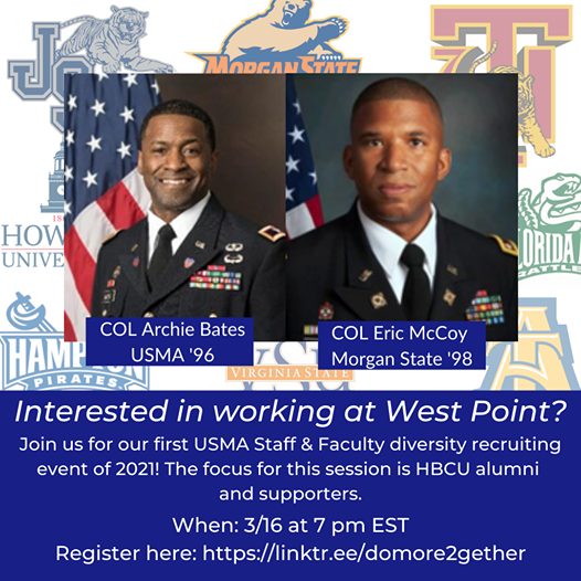 Do More Together: West Point Staff & Faculty Information Session #1: HBCU Engagement