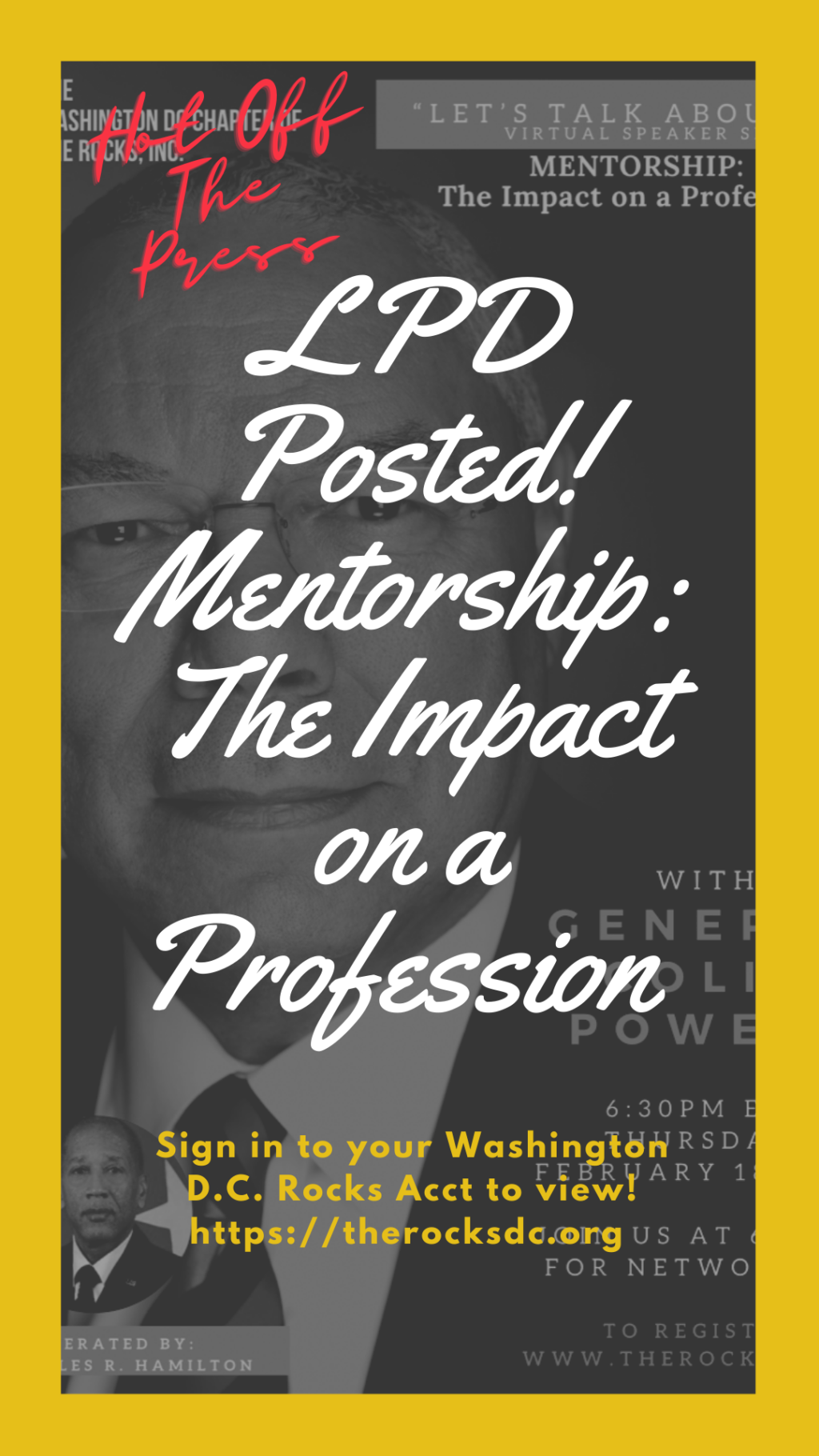 Let's Talk About It: The Impact on a Profession Video Posted Flyer