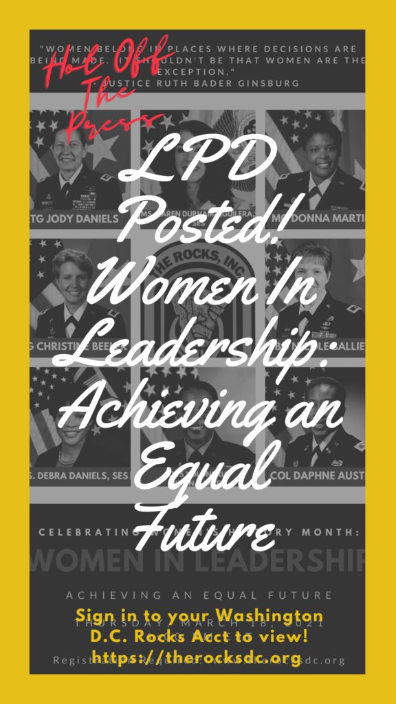 Let's Talk About It: Women In Leadership Video Posted Flyer