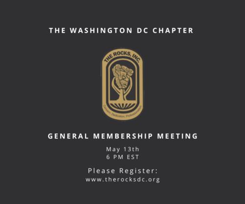 May: General Membership Meeting